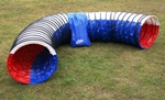 Tunnel 5 meter rood wit blauw